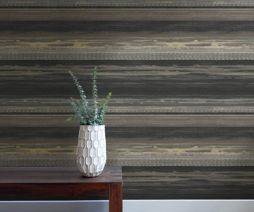 RY31320 horizon brushed stripe wallpaper from the Boho Rhapsody collection by Seabrook Designs
