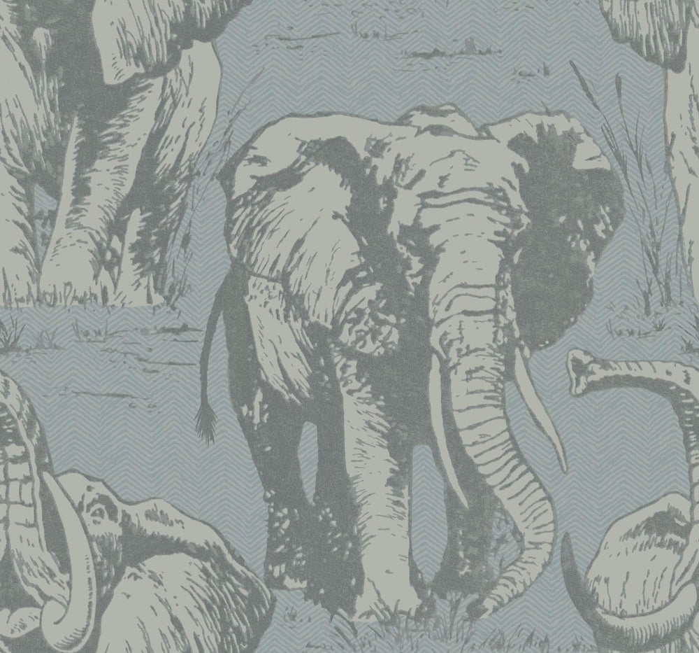 Carl Robinson Edition 10: Island Jefferson Elephant Wallpaper
