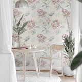 RN70901 jacobean floral wallpaper decor from Say Decor