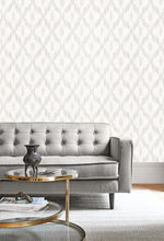 MT80110 Pomerelle ikat wallpaper decor from the Montage collection by Seabrook Designs