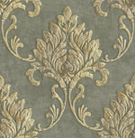 MT81605 Telluride damask wallpaper from the Montage collection by Seabrook Designs