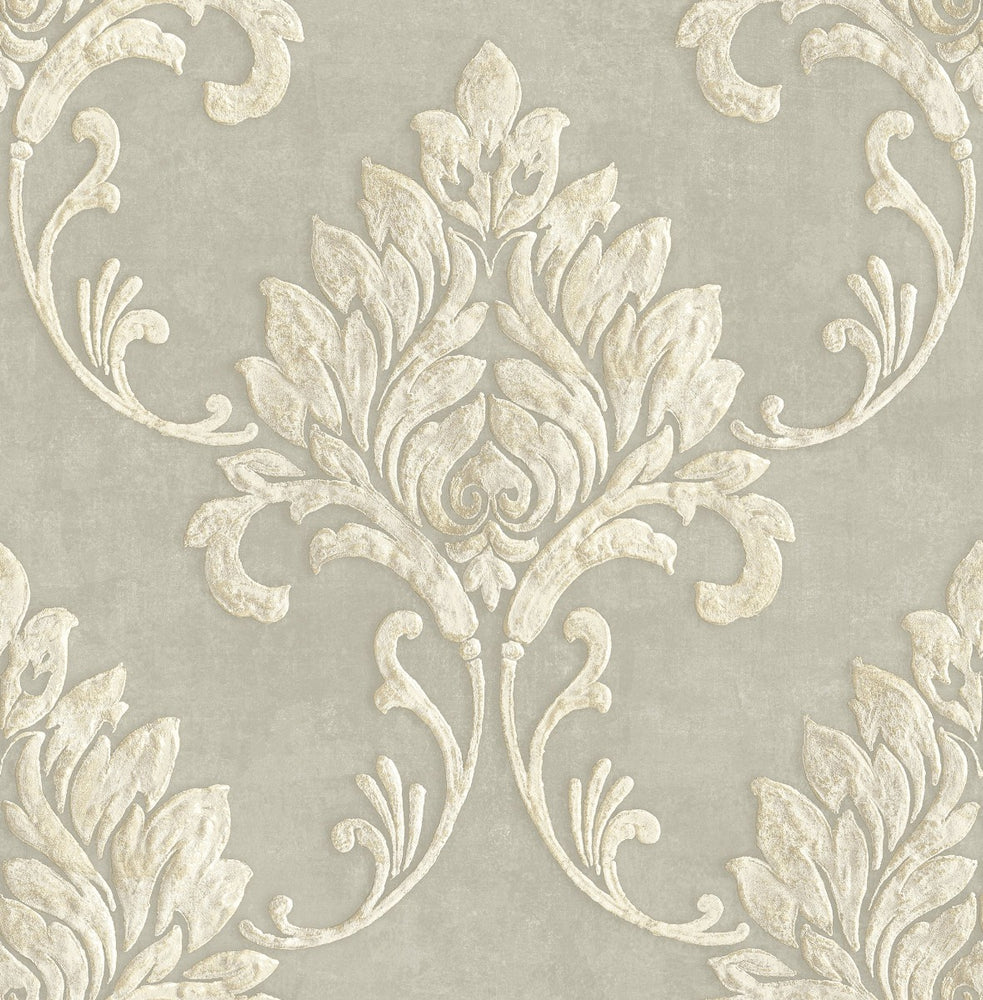 MT81607 Telluride damask wallpaper from the Montage collection by Seabrook Designs