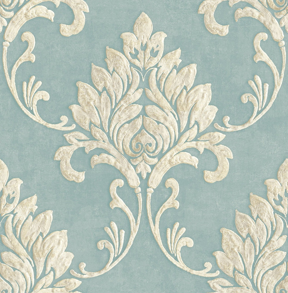 MT81612 Telluride damask wallpaper from the Montage collection by Seabrook Designs