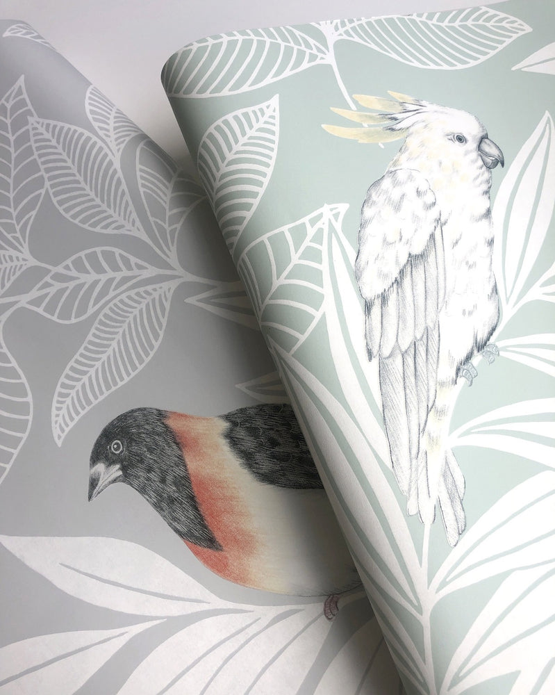Seabrook Designs Boho Rhapsody Paradise Island Birds Bohemian Wallpaper
