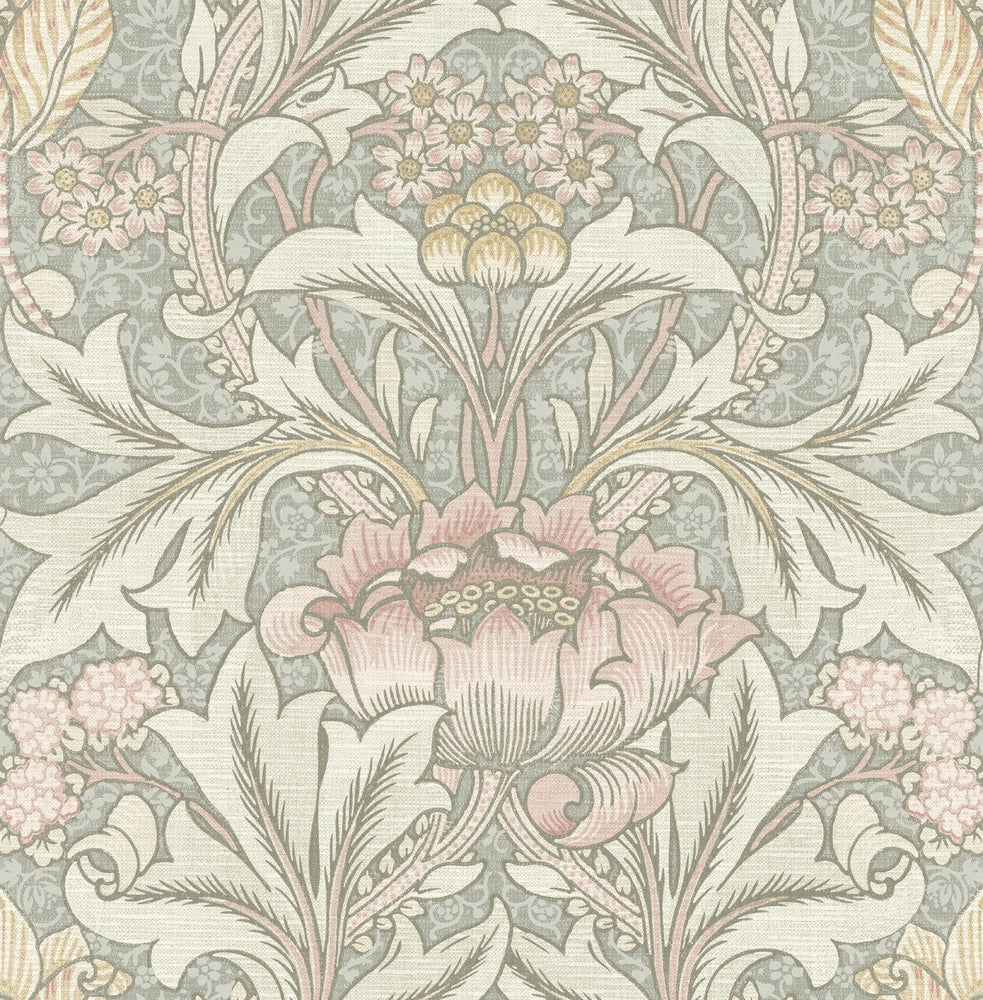 BM60101 Morris flower arts and crafts wallpaper from Say Decor
