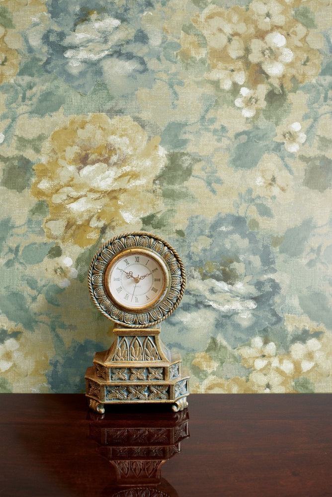 AR30503 brushstroke garden floral wallpaper decor from the Nouveau collection by Seabrook Designs