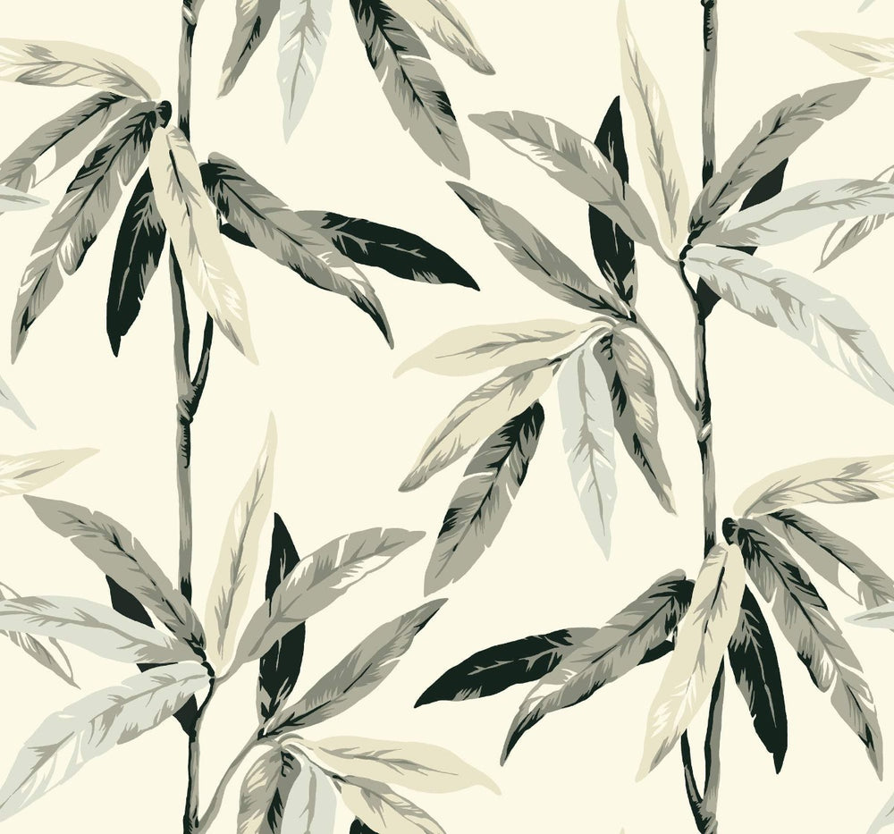 CR21808 janson leaf botanical wallpaper from the Island collection by Carl Robinson