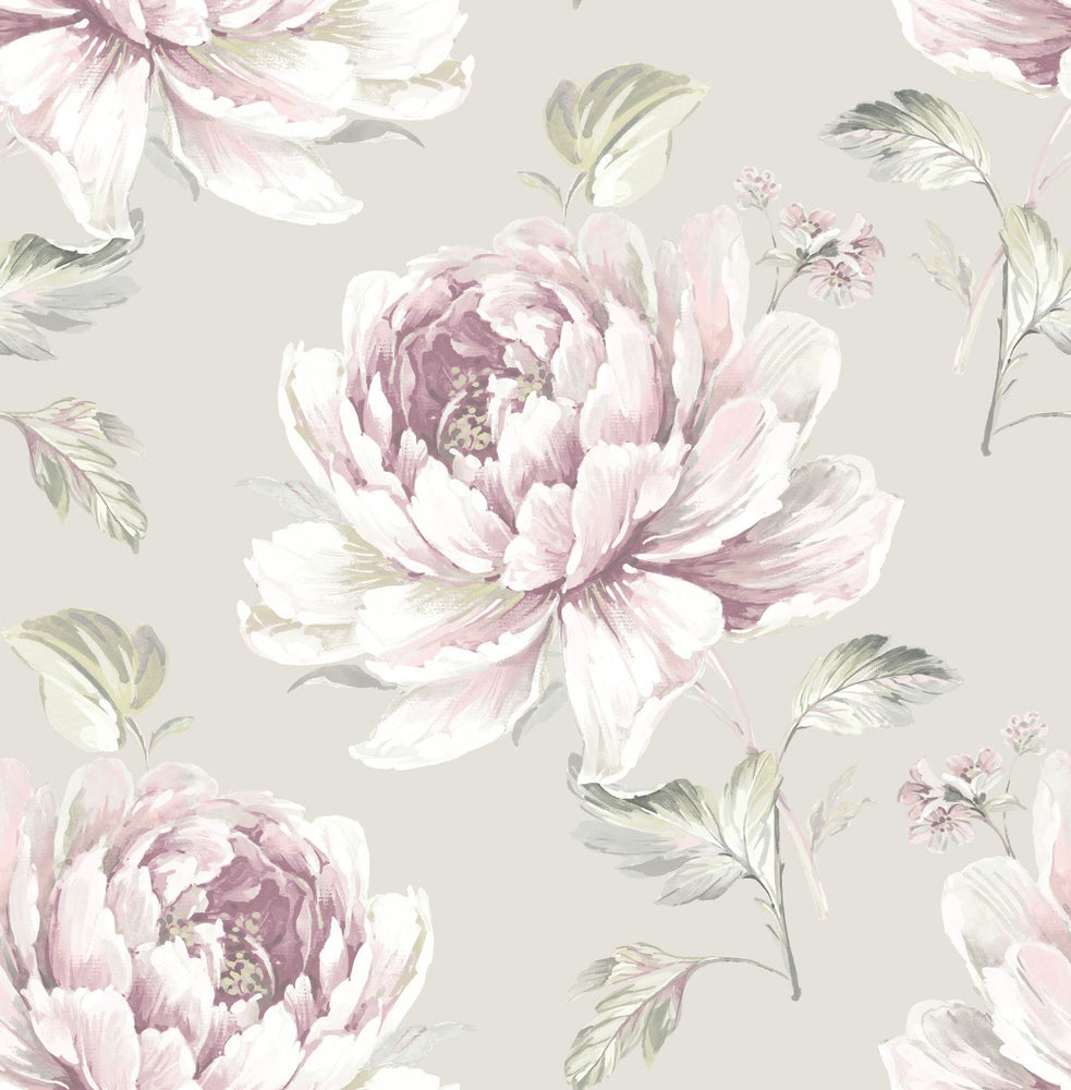 CR21309 Jarrow peony floral wallpaper from the Island collection by Carl Robinson