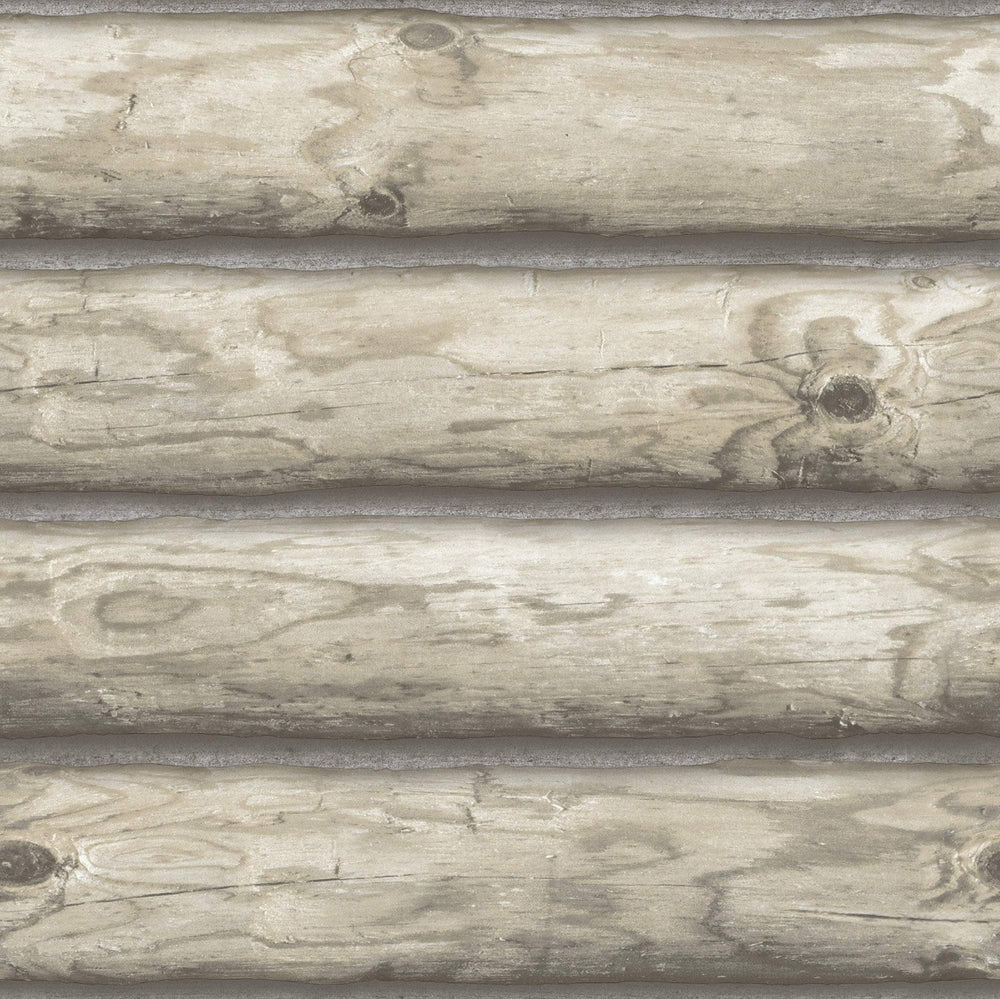 Seabrook Designs The Avenues Faux Boston Log Wallpaper