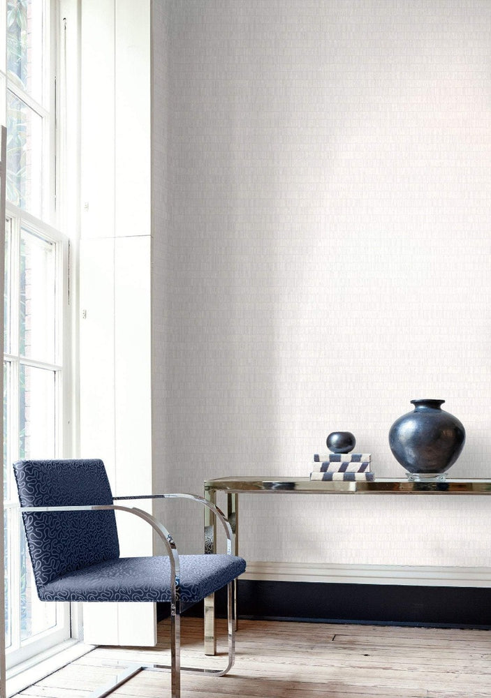 AW70500 textured stripe wallpaper decor from the Casa Blanca 2 collection by Collins & Company