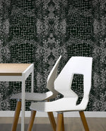 ML13308 alligator faux wallpaper decor from the Modena collection by Collins & Company
