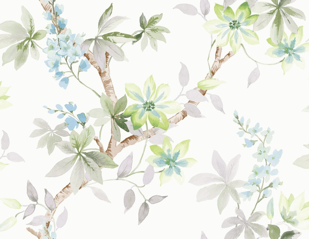 CR20808 Jasper floral wallpaper from the Island collection by Carl Robinson