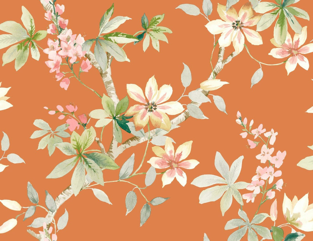 CR20807 Jasper floral wallpaper from the Island collection by Carl Robinson