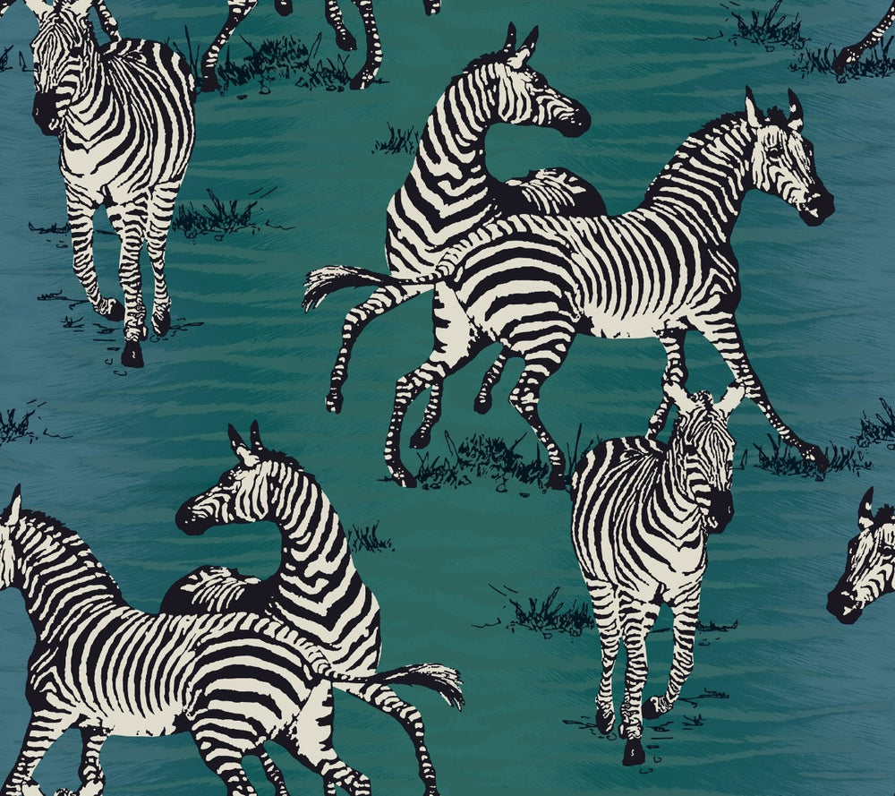 CR20502 jarvis zebra animal wallpaper from the Island collection by Carl Robinson