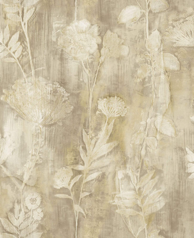CR76406 Orford brushed floral wallpaper from the Seaglass collection by Carl Robinson