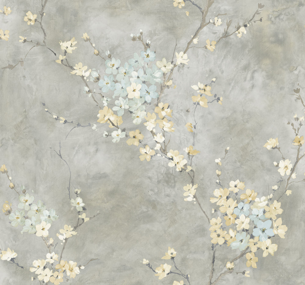 Carl Robinson Edition 15: Seaglass Orgden Floral Branch Wallpaper