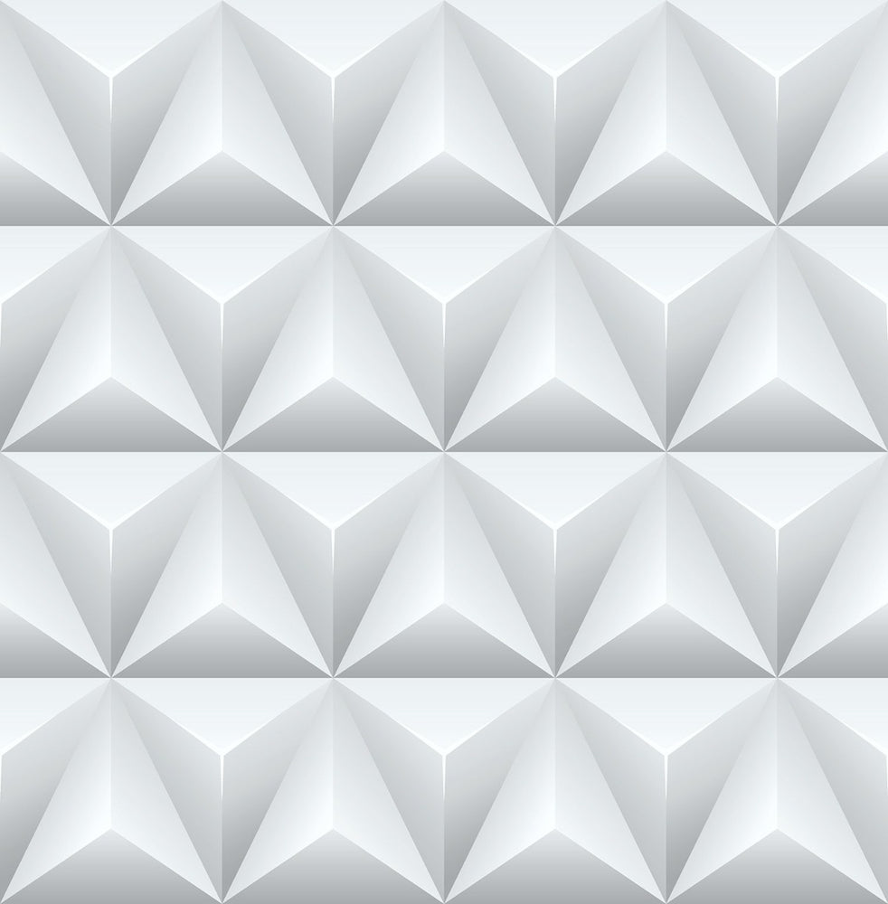 NW32800 triangle origami geometric peel and stick removable wallpaper by NextWall