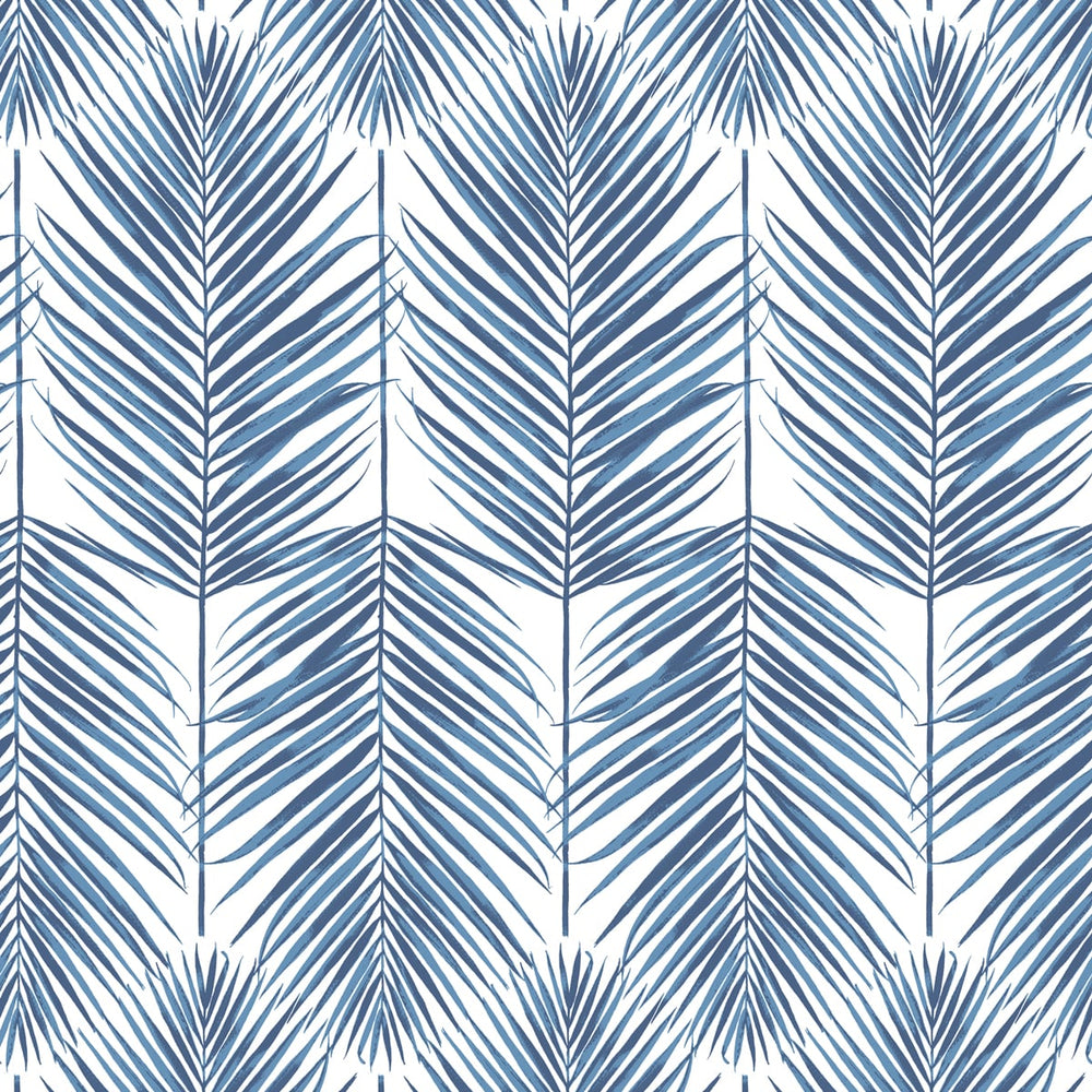 NZ10002M paradise palm leaf blue peel and stick wall mural from NextWall