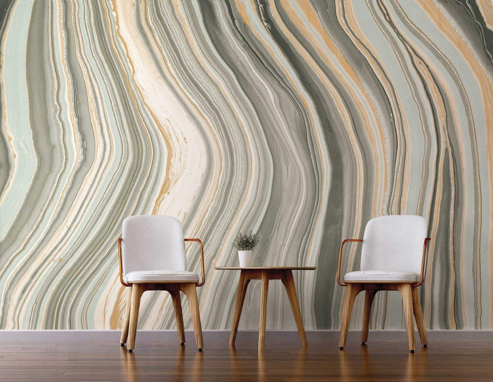 NZ10300M botswana agate abstract peel and stick wall mural living room by NextWall