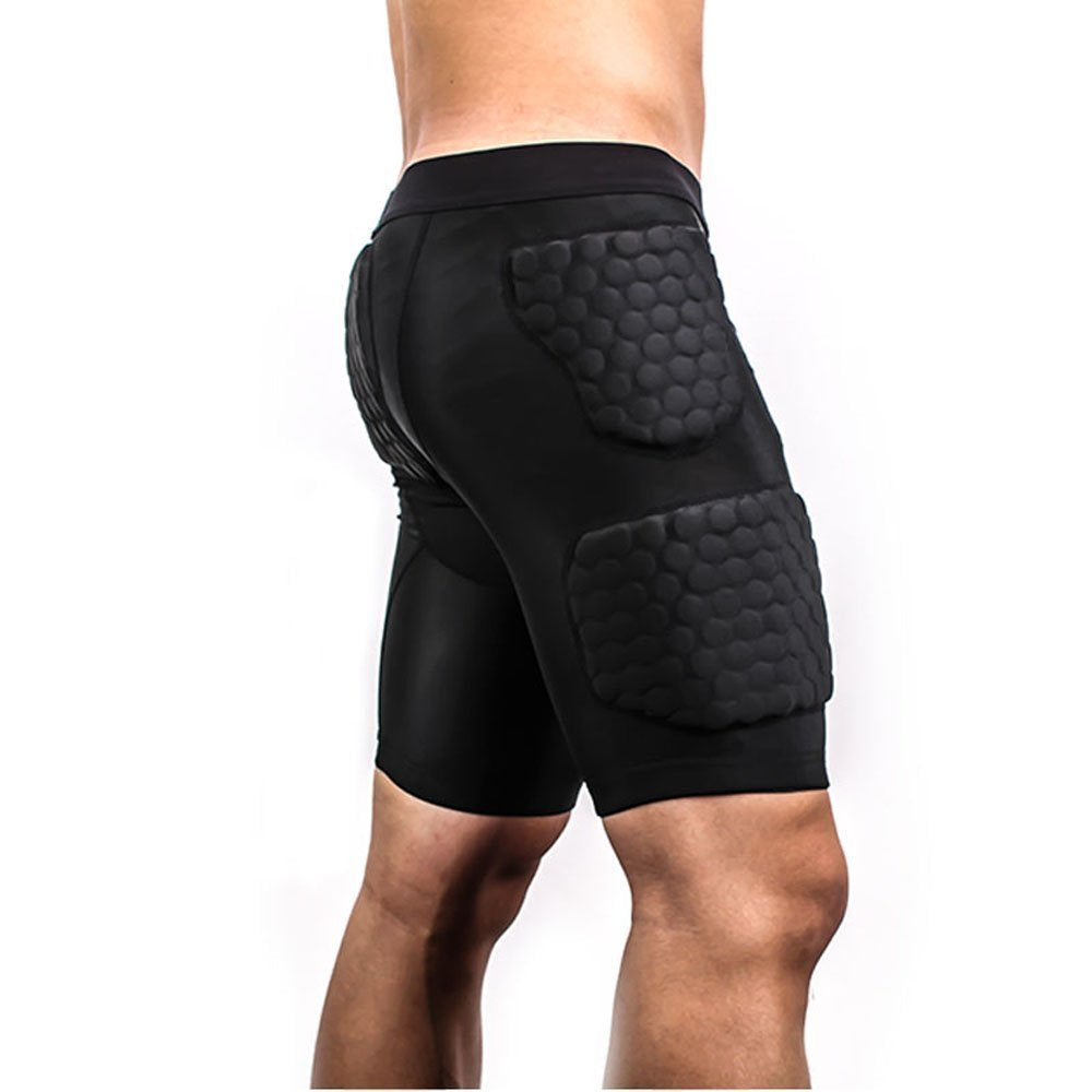 TUOYR Mens Padded Compression Short Back Thigh Hip and Buttocks Protector for Basketball Football Soccer Hockey Rugby