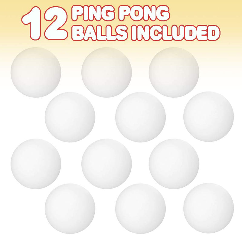 ArtCreativity White Ping Pong Balls - Pack of 12 - Mini 1.5 Inch Ping Pong Balls for Goldfish Game, Beer Pong, or Table Games, Fun Carnival Games Supplies for Kids, Adults, Parties - BeesActive Australia