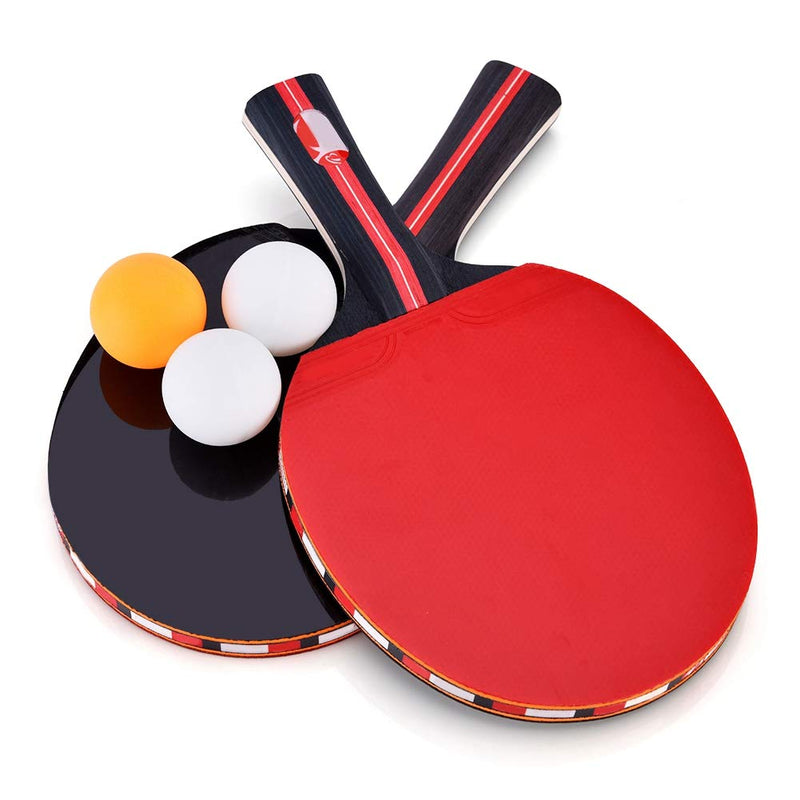 VGEBY1 Ping Pong Paddle Set Table Tennis Racket for 2 Players with Portable Cover Case for Indoor Outdoor palying - BeesActive Australia