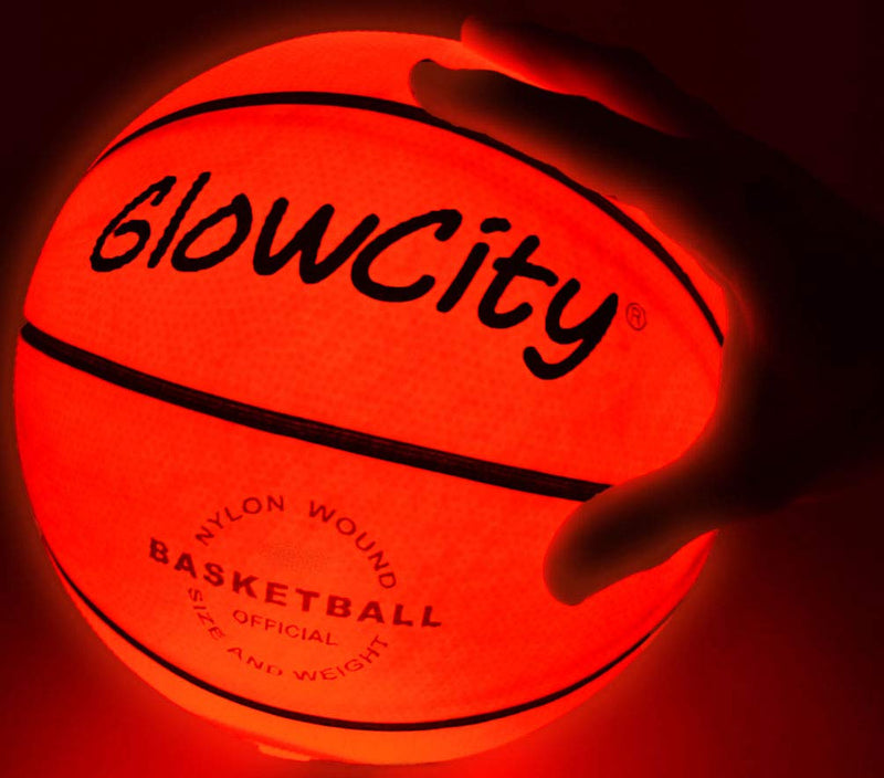 GlowCity LED Light-Up Basketball – Size 5, 27.5 inch, Ideal for Youth & Pre-Teen Night Games – Impact Activated Glow-in-The-Dark Fun, Nylon Wound Durability, Batteries Included - BeesActive Australia