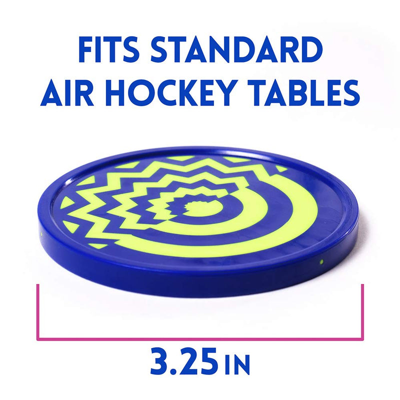 Vivid Two-tone Air Hockey Pucks (2-pack) | Wear-proof Molded Psychedelic Patterns and Designs | Large 3.25-inch Pucks for Standard Air Hockey Tables | Perfect Addition to Game Rooms and Arcades - BeesActive Australia