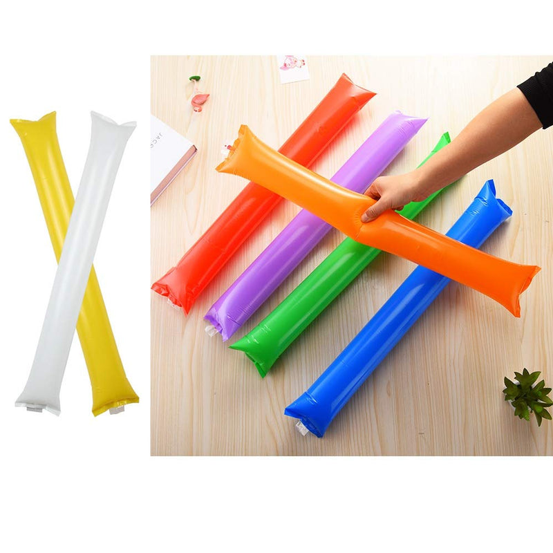 [AUSTRALIA] - Creatyi 40 PCS Thicken Bam Bam Thunder Sticks Cheering Sticks Cheerleading Cheering Sticks for Sports Cheers Ball Dance Basketball Football Noisemakers Yellow