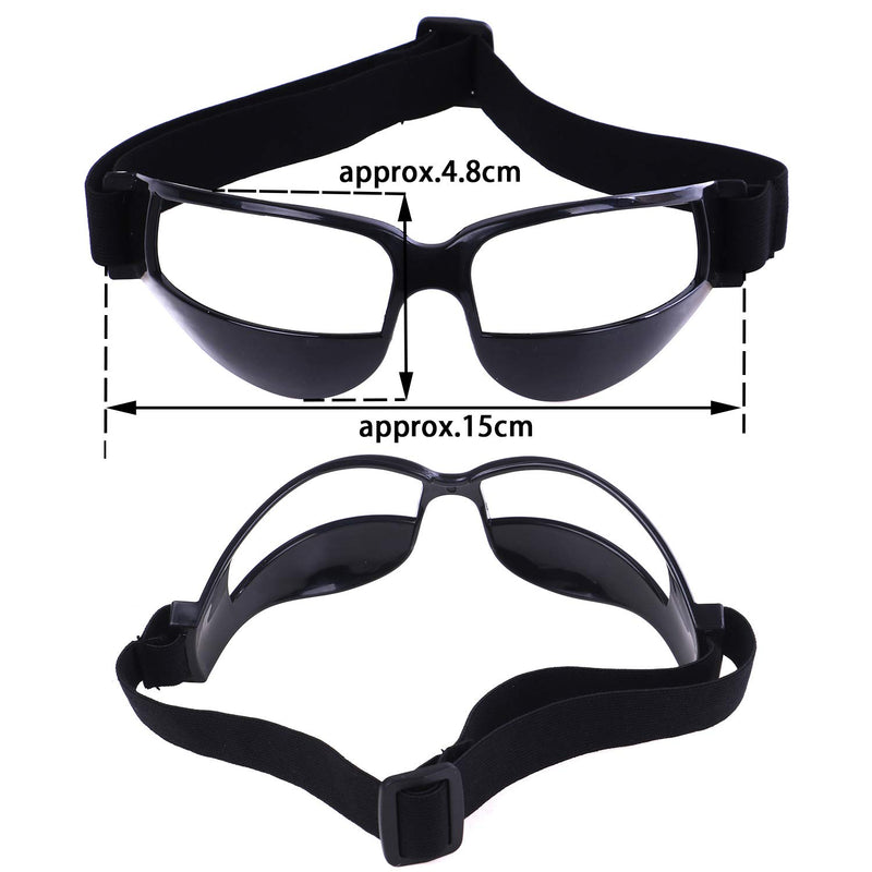 Olgaa Basketball Goggles Sport Dribble Specs Goggles Black Sports Goggles Dribbling Specs Basketball Training Aid for Teenagers Kids Gifts (4 Pieces) - BeesActive Australia