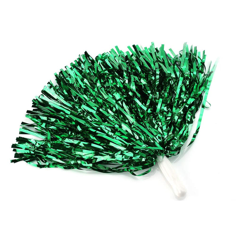 [AUSTRALIA] - VGEBY1 7 Colors 6pcs Cheerleading Pom Poms Pompoms Party Dance Accessory Sports Pompoms Cheer(Green)