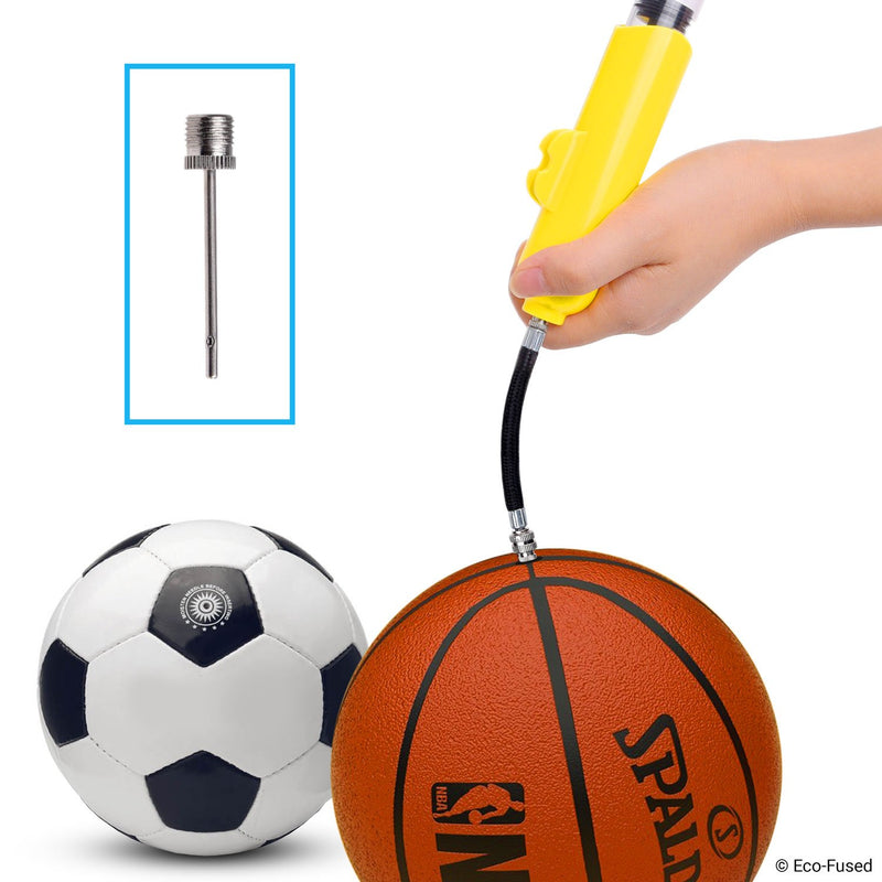 [AUSTRALIA] - 2x Ball Pump - Super Compact - Dual Action (Pumps Air when you Push and Pull) - For Sport Balls (Basketball, Soccer, Football, Rugby, Volleyball, Yoga, etc.) and Inflatables (Beach Balls, Pool Floats)