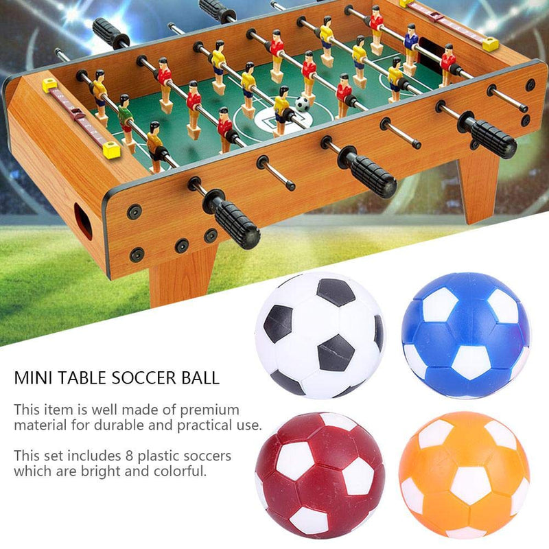 Mini Soccer Balls Foosballs Replacement Balls with Multiple Colors for Table Soccer Foosball 8PCS - BeesActive Australia