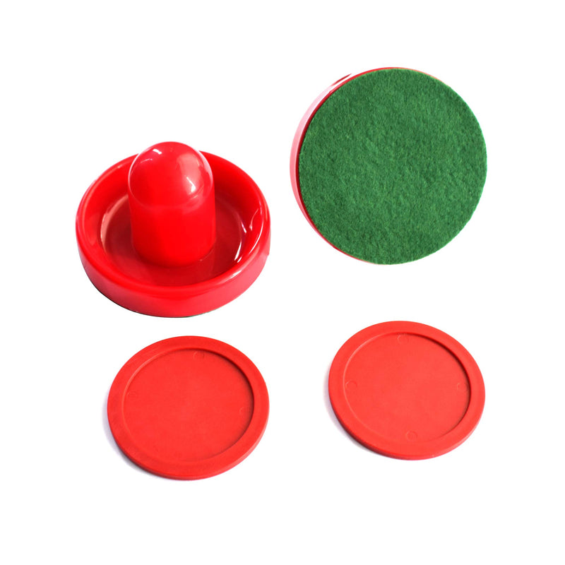 Hathaway Chip-Resistant Air Hockey Accessory Set with 2 Felt-Bottom Strikers and Pucks Small - BeesActive Australia