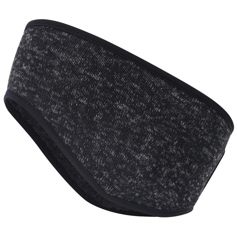 MIFULGOO Women's Ponytail Headband Ear Warmer Head Wrap Yoga Hair Band Running Sweatband Bigger-black - BeesActive Australia