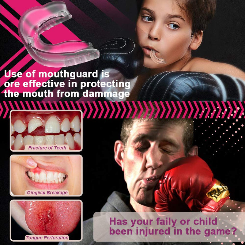 Mouth Guard Sports Youth Football Mouthguard Moldable Kids Adults Mouthpiece Teeth Protective Braces Bite Guards EVA BPA Free for MMA Boxing Lacrosse Hockey Wrestling Basketball Mouth Guard (3 Pack) - BeesActive Australia