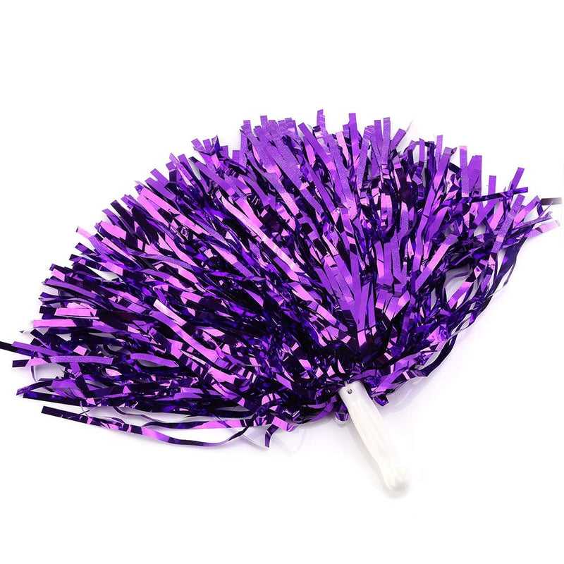 [AUSTRALIA] - VGEBY1 Pompoms, 6pcs Coloful Cheerleading Pom Poms for Party Dance purple