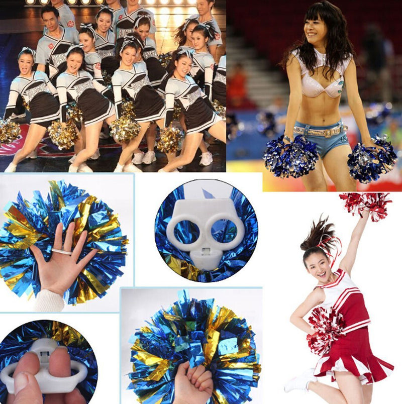 [AUSTRALIA] - FinalZ 14'' Cheering Squad Spirited Fun Cheerleading Kit Cheer Poms Pack of 2 Blue+Gold