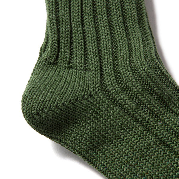 decka quality socks | デカ クォリティソックス Cased heavy weight plain socks