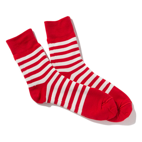 decka quality socks | デカ クォリティソックス Reversible socks / Plain×Stripes