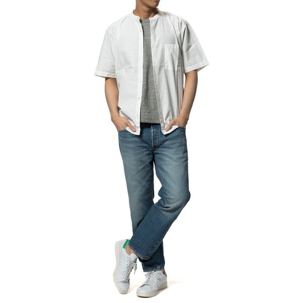 MANUAL ALPHABET | マニュアルアルファベット LOOSE FIT BAND COLLAR S/S SHT