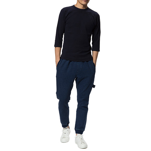 feel so easy good things for relaxing | フィールソーイージーグッドシングスフォーリラクシング Indigo Stretch Sweat Rib Pants