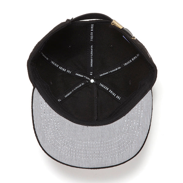 ROARK REVIVAL | ロアークリバイバル WOOL LOGO CAP w/LEATHER CLOSURE