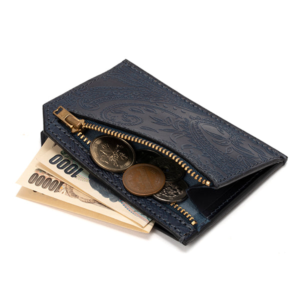 RE.ACT LEATHER WORKS | リアクトレザーワークス INDIGO SLIM WALLET