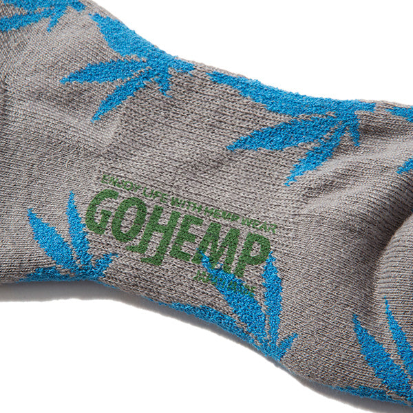 GOHEMP | ゴーヘンプ GOHEMP×ANONYMOUSISM PATTERN PILE QUARTER SOCKS