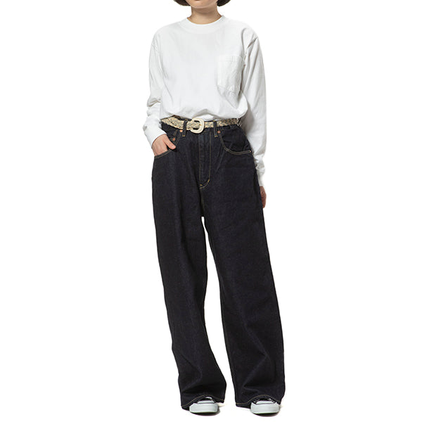 GOHEMP | ゴーヘンプ WIDE DENIM PANTS (ONE WASH)