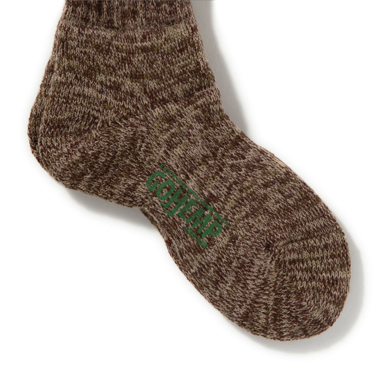 gohemp | ゴーヘンプ MIX PILE QUARTER SOCKS