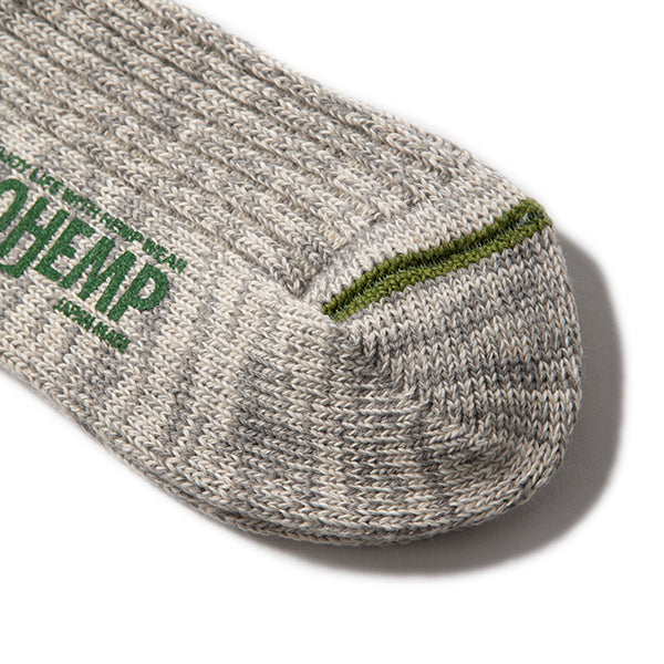 GOHEMP | ゴーヘンプ ORGANIC COTTON×HEMP PILE CREW SOCKS×ANONYMOUSISIM