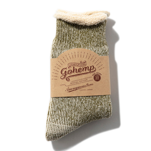GOHEMP | ゴーヘンプ LOW GAUGE PILE CREW SOCKS ×ANONYMOUSISM