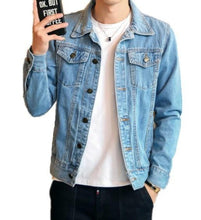 Load image into Gallery viewer, Men Classic Dual Pocket Denim Jean Jacket